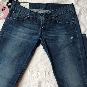 NWT Dondup button fly straight leg jeans size 31